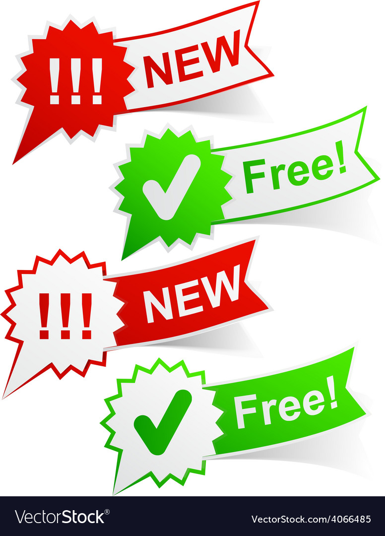 New and free tags vector | Price: 1 Credit (USD $1)