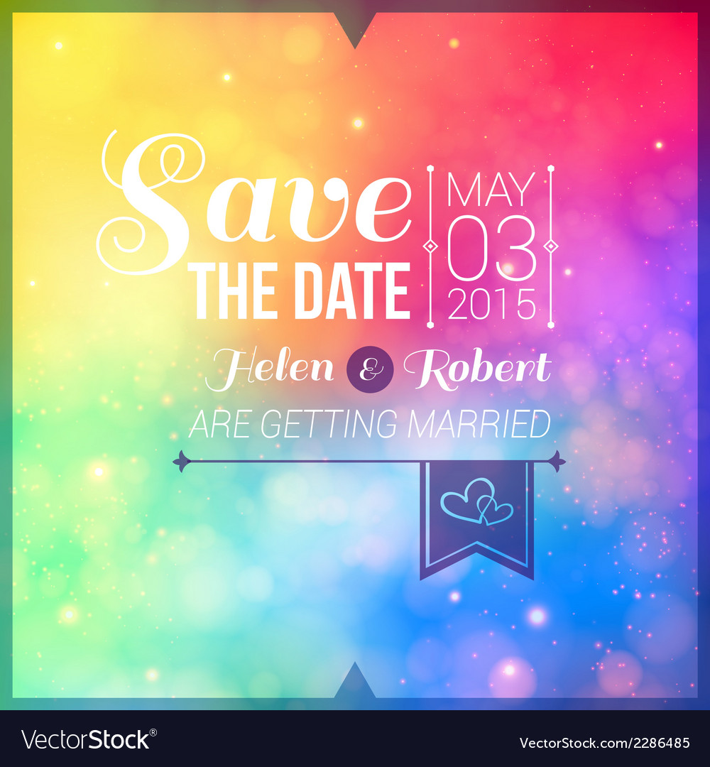 Save the date for personal holiday wedding vector   Price: 1 Credit (USD $1)