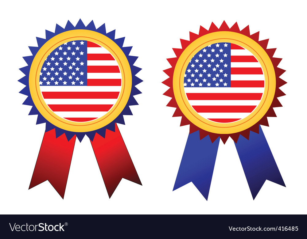 Usa flag rosettes vector | Price: 1 Credit (USD $1)