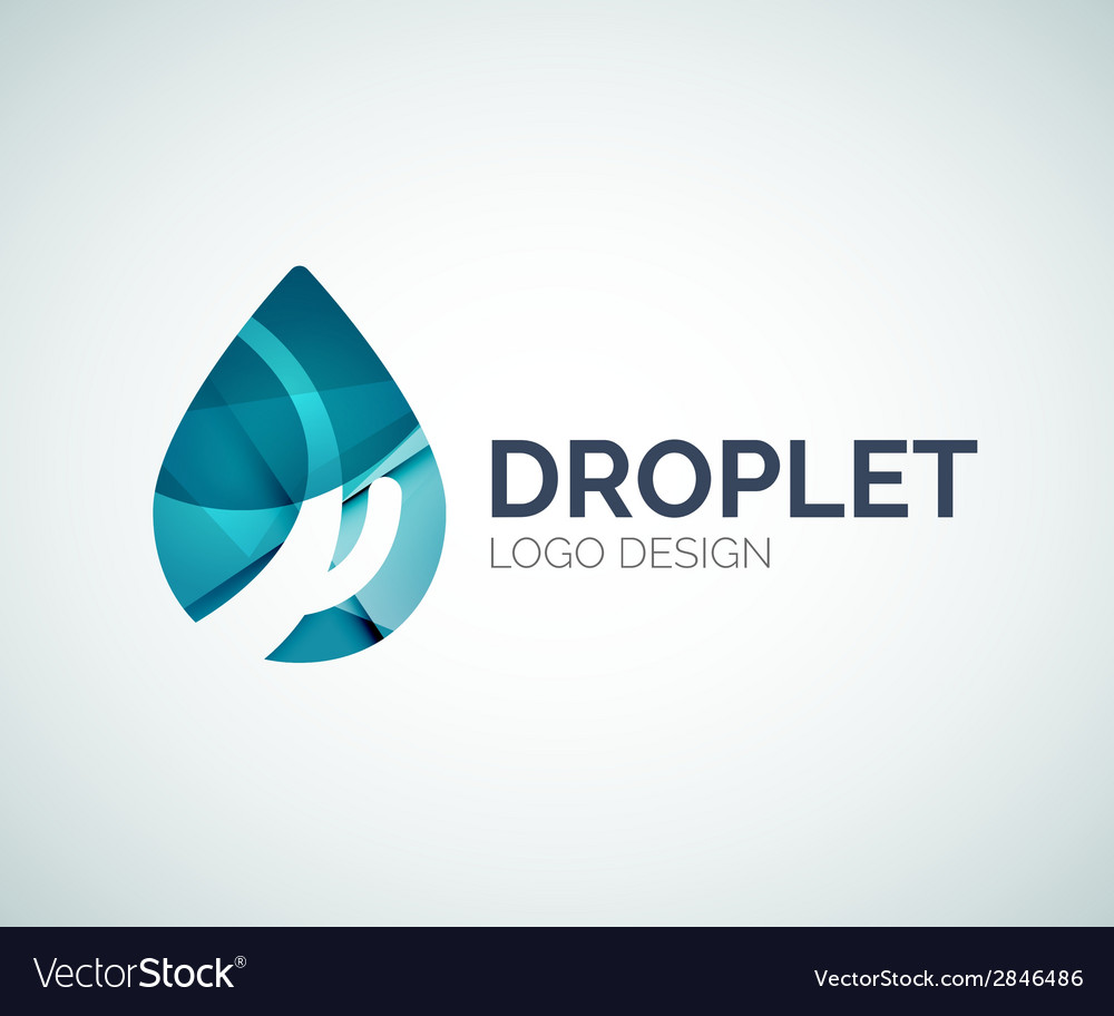 Blue droplet design made of color pieces vector | Price: 1 Credit (USD $1)