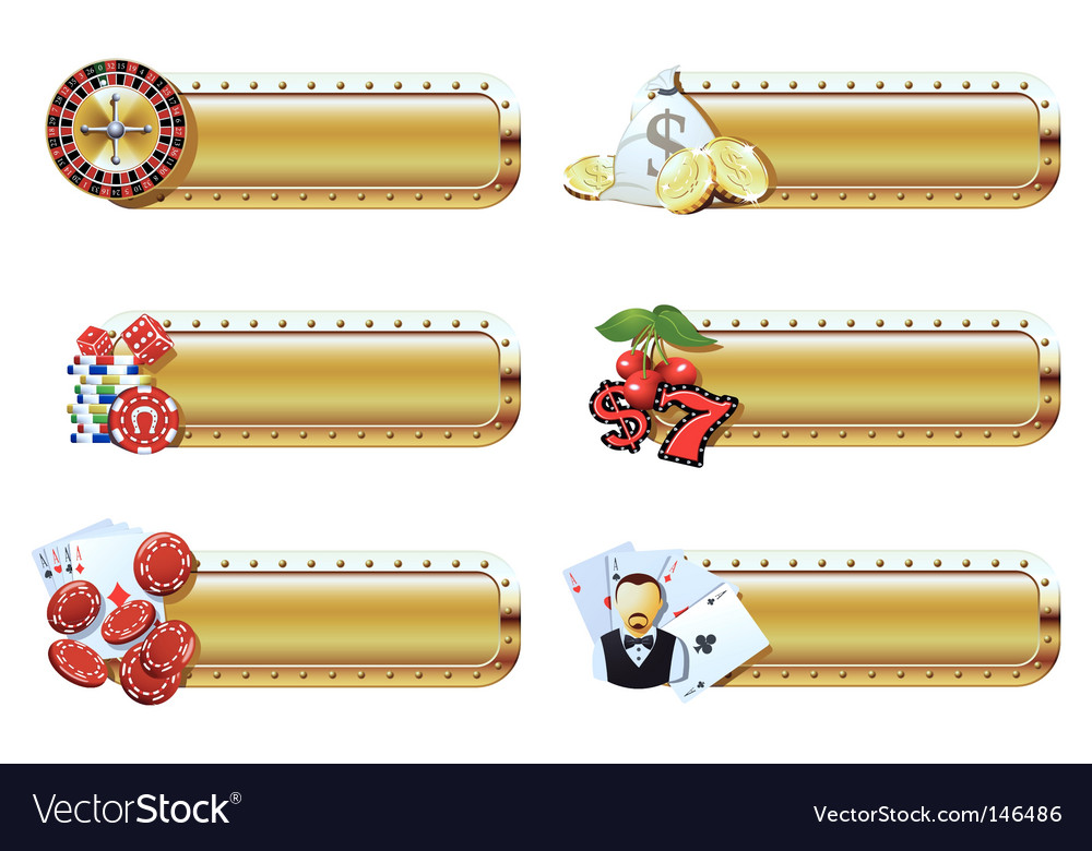 Casino banners vector | Price: 1 Credit (USD $1)