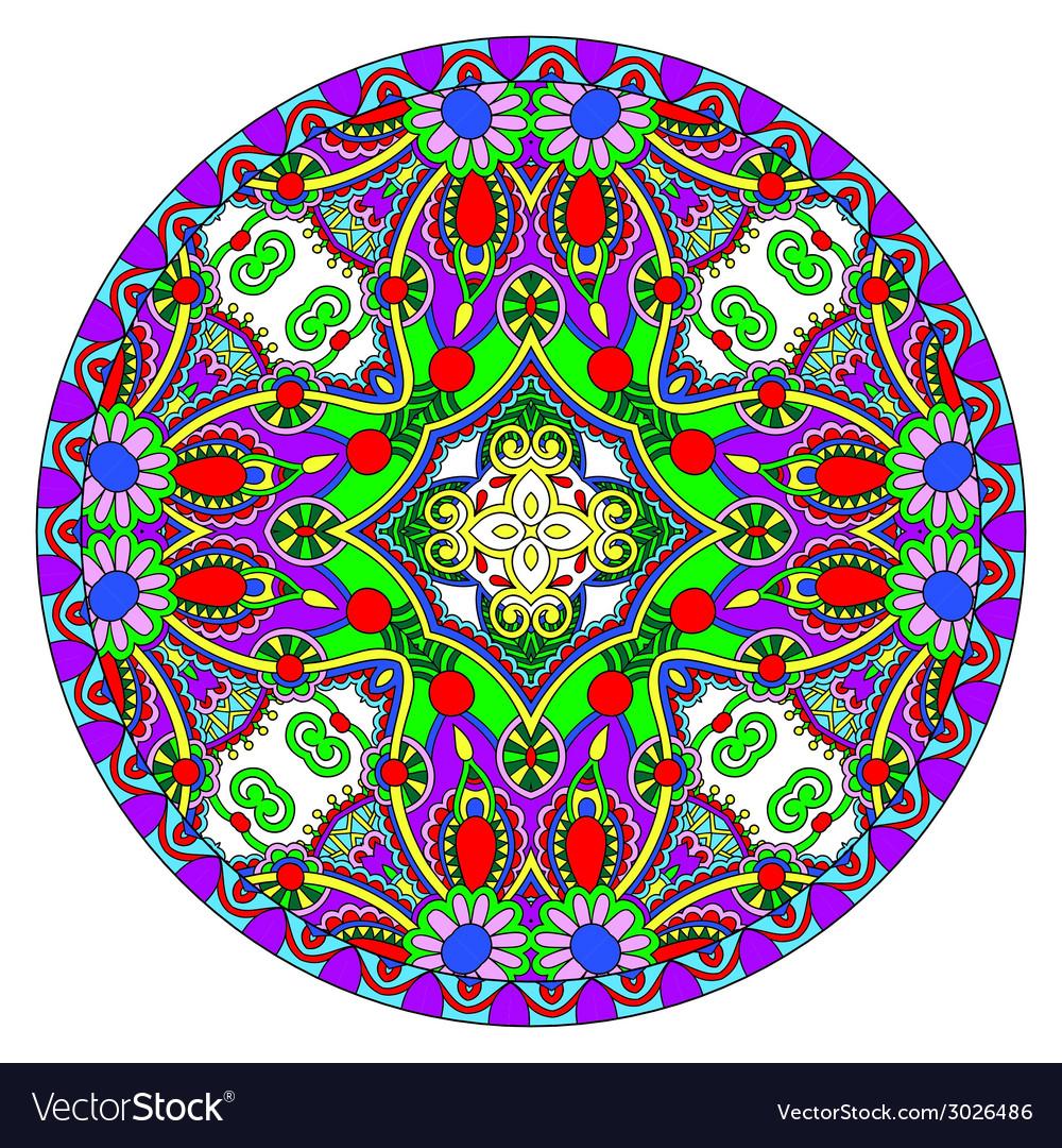 Decorative design of circle dish template round vector | Price: 1 Credit (USD $1)