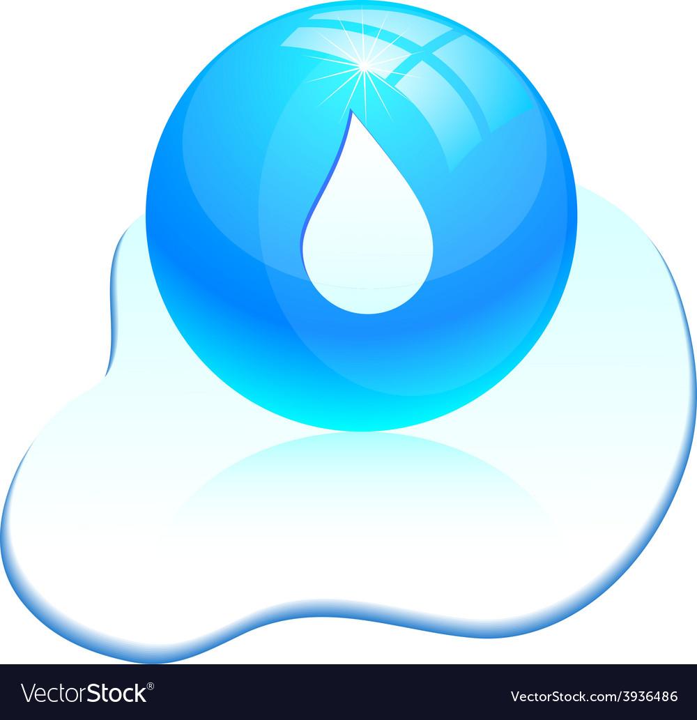 Drop icon vector | Price: 1 Credit (USD $1)