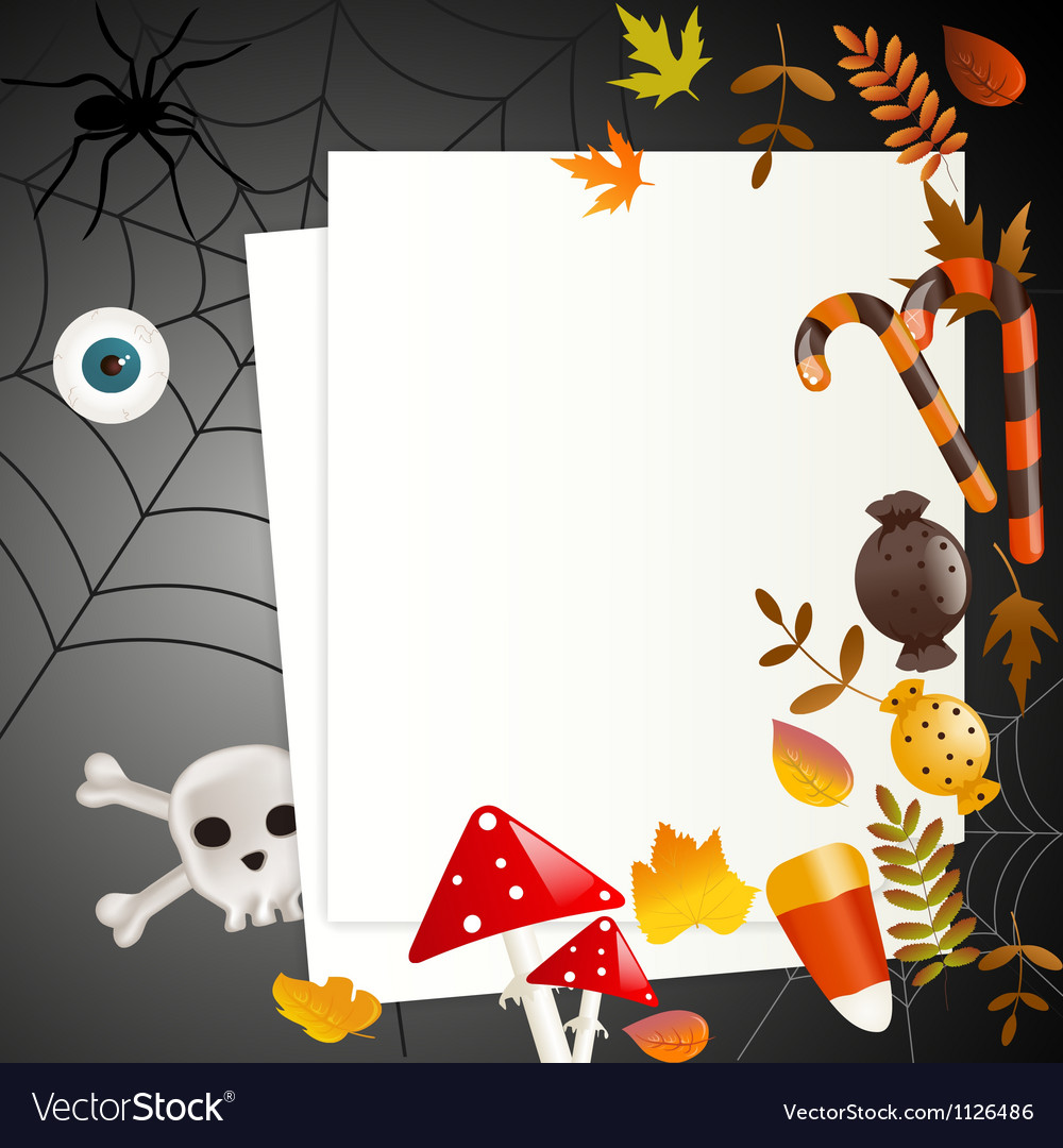 Halloween card with place for your text vector | Price: 1 Credit (USD $1)