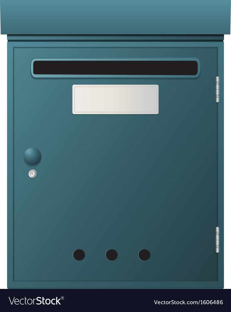 Metal mailbox vector | Price: 1 Credit (USD $1)