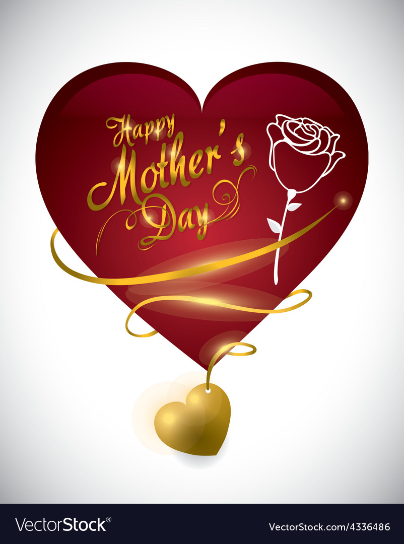 Mothers day card design vector | Price: 1 Credit (USD $1)