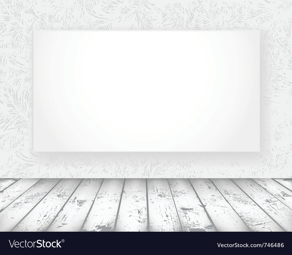 New media banner in a old room vector | Price: 1 Credit (USD $1)