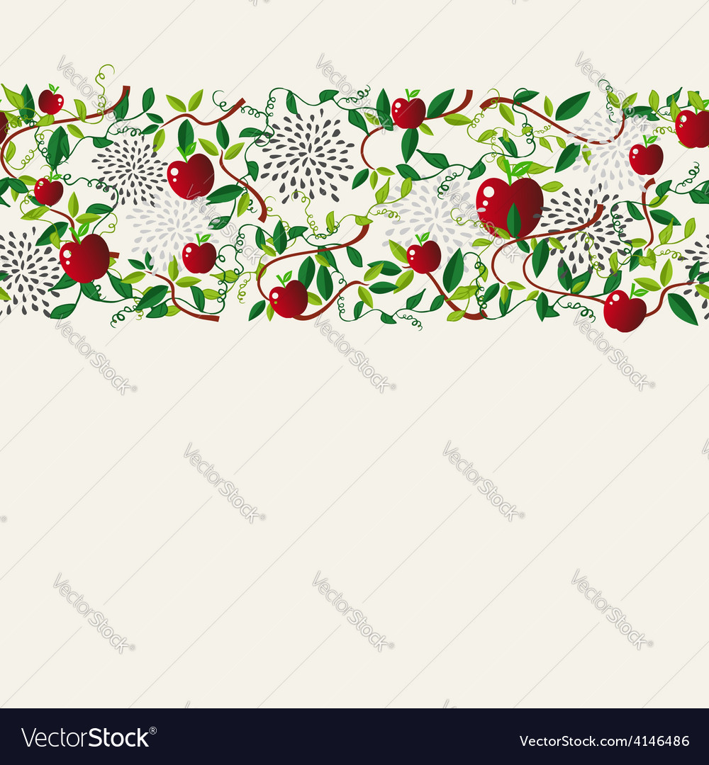 Red apple food seamless pattern garland vector   Price: 1 Credit (USD $1)