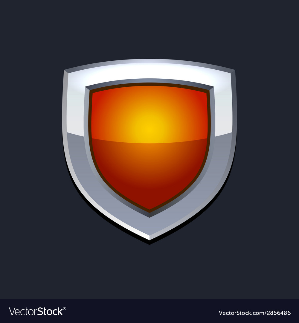 Red protect shield icon vector | Price: 1 Credit (USD $1)