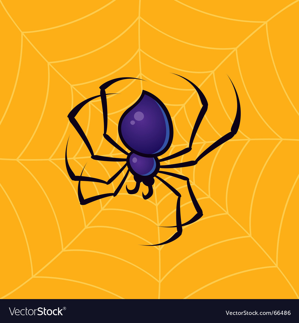Spider with web background vector | Price: 1 Credit (USD $1)