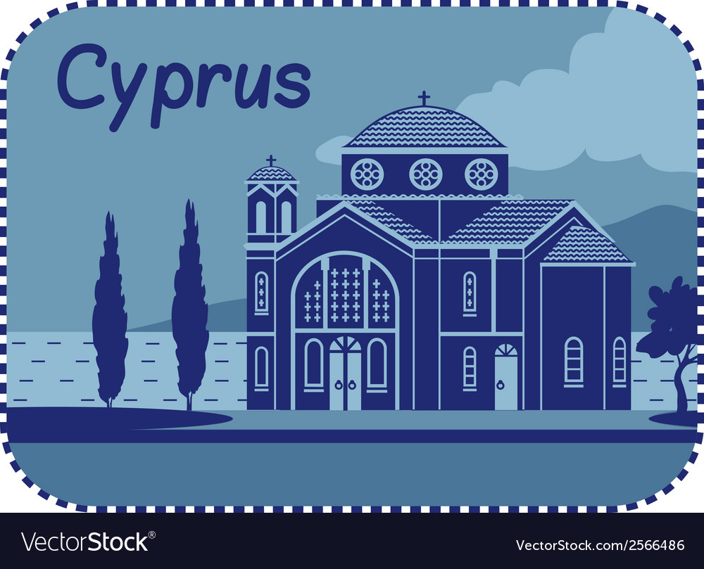 With agios georgios church in cyprus vector | Price: 1 Credit (USD $1)