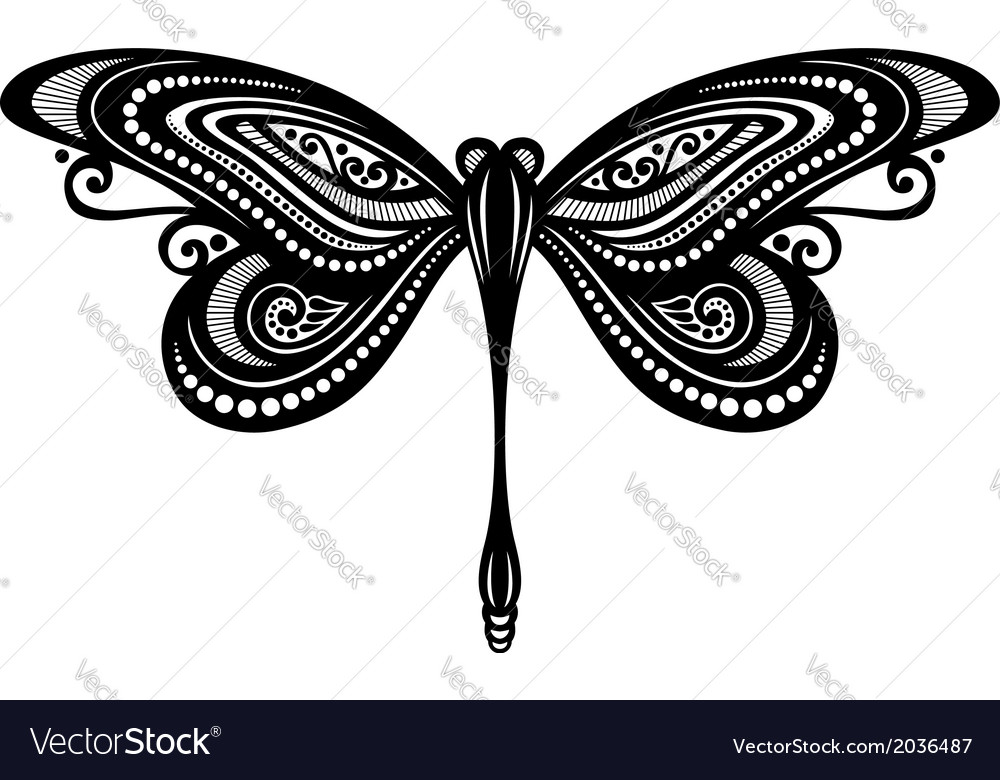 Beautiful dragonfly exotic insect vector | Price: 1 Credit (USD $1)