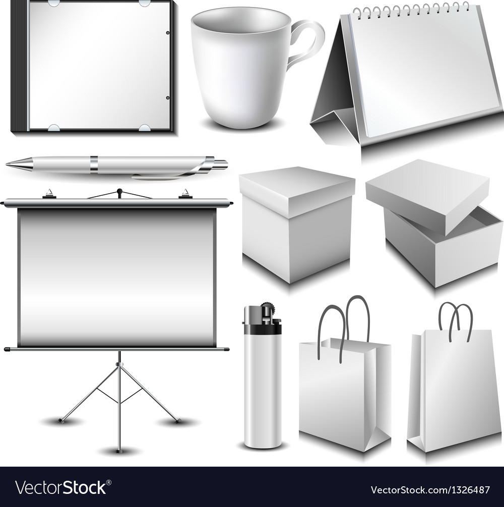 Blank corporate identity object set vector | Price: 1 Credit (USD $1)