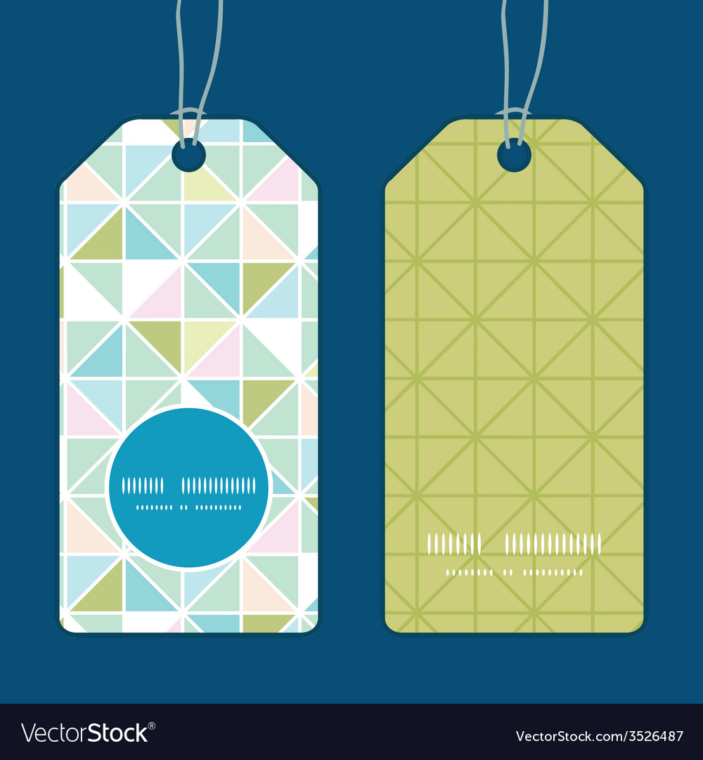 Colorful pastel triangle texture vertical round vector | Price: 1 Credit (USD $1)