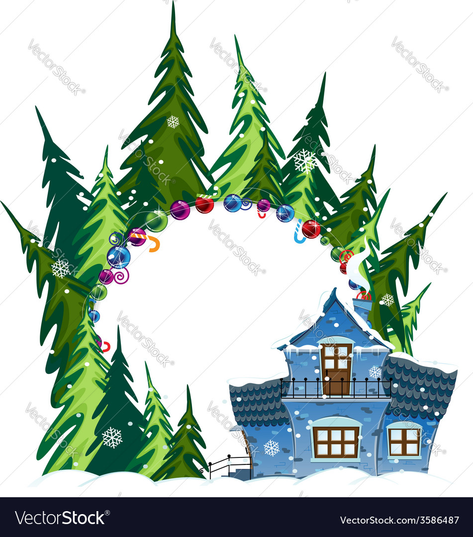 Forest hotel vector | Price: 1 Credit (USD $1)