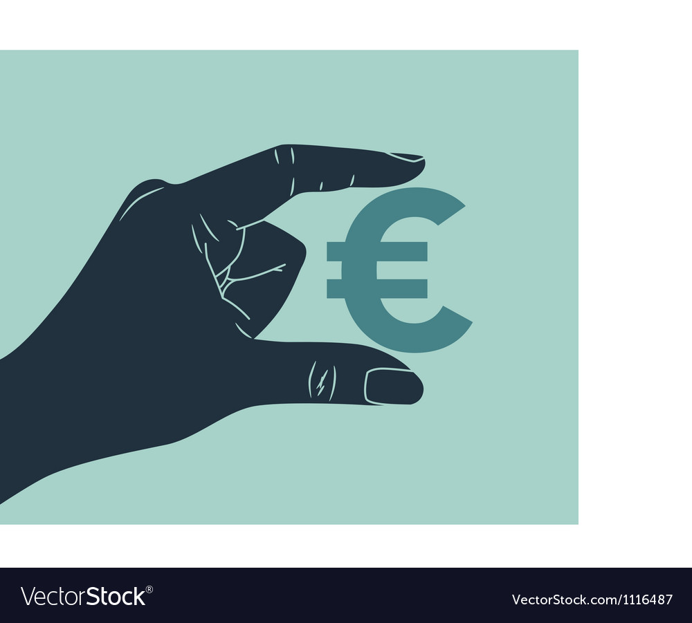 Hand euro vector | Price: 1 Credit (USD $1)