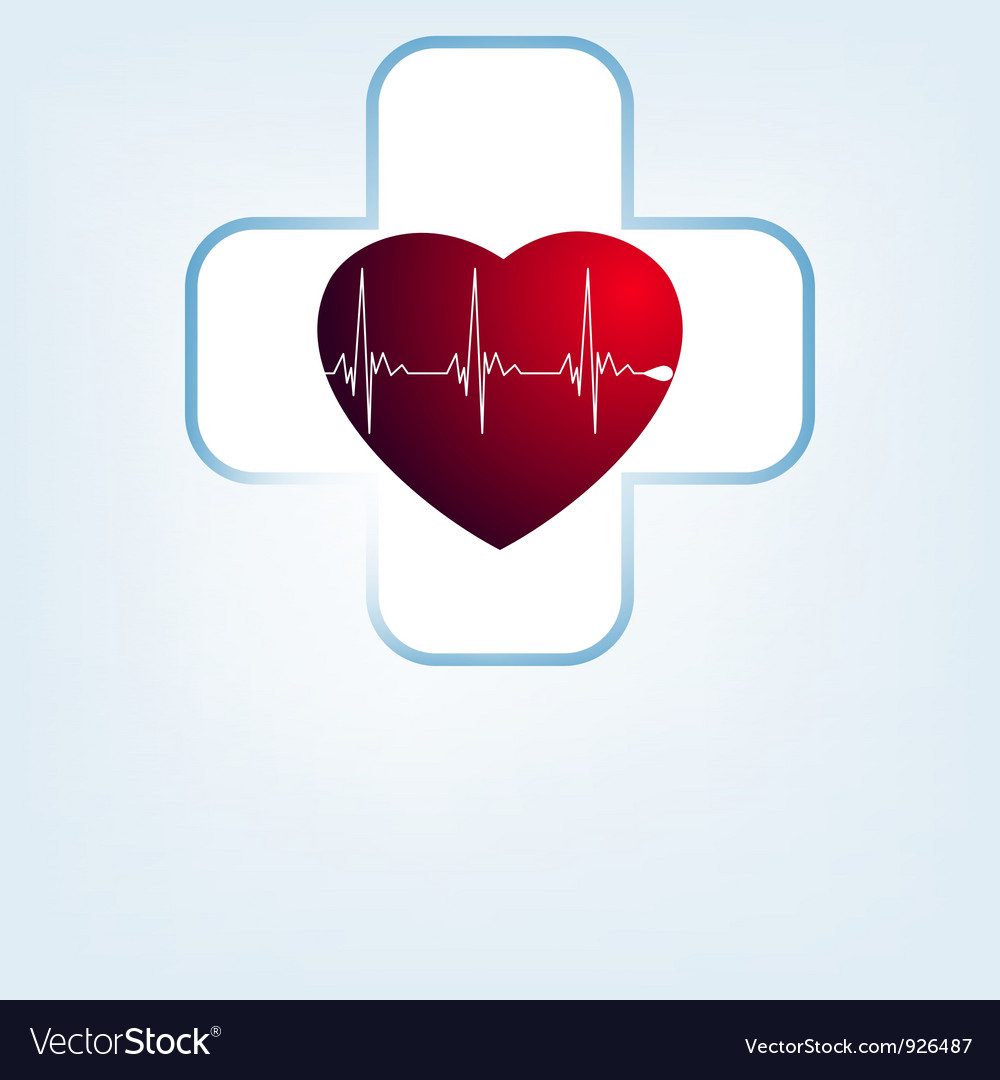 Heart medical cross vector | Price: 1 Credit (USD $1)