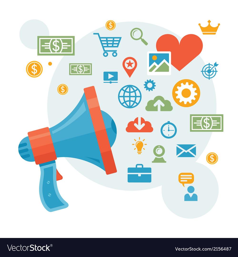 Marketing - loudspeaker vector | Price: 1 Credit (USD $1)