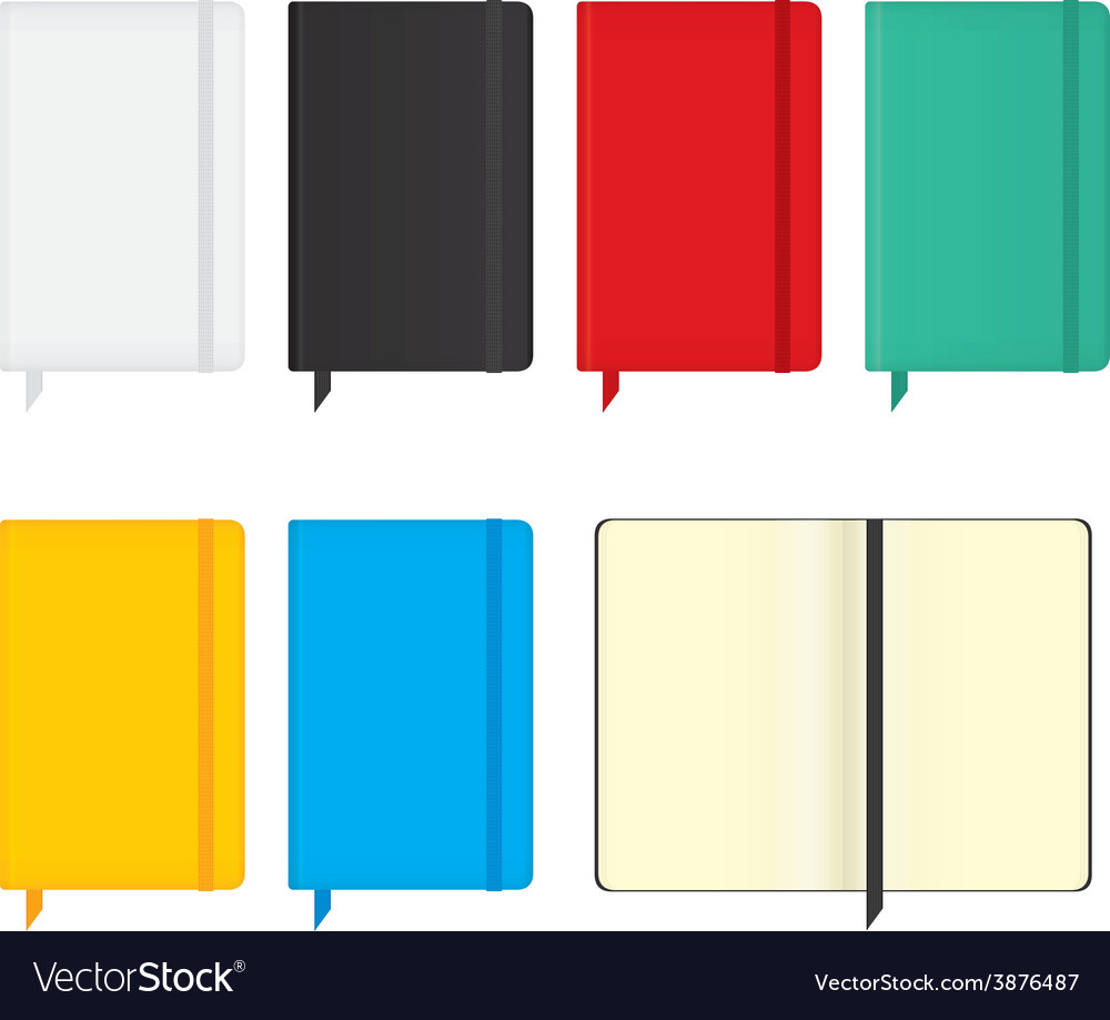 Moleskine notebooks vector | Price: 1 Credit (USD $1)