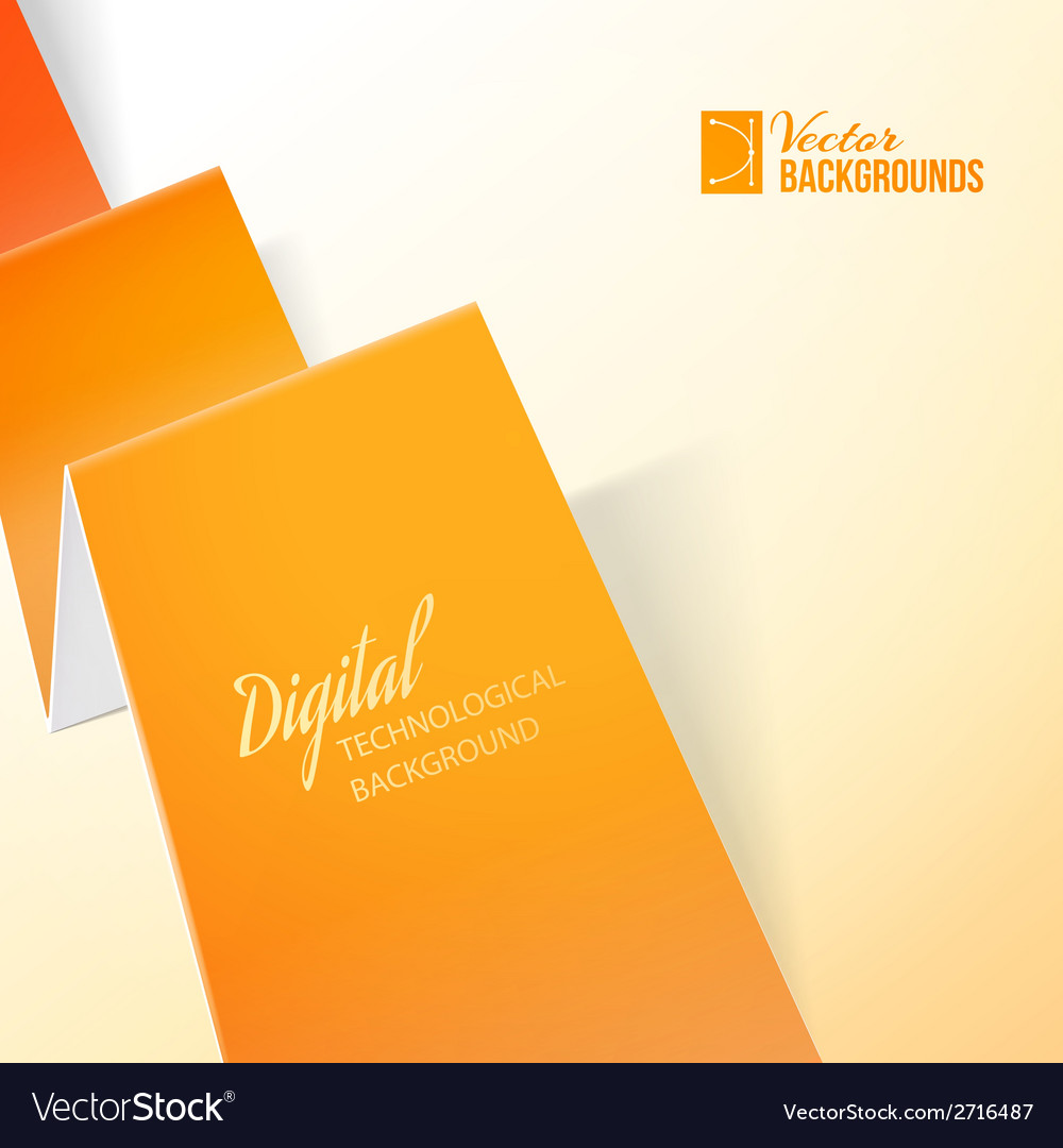 Orange paper vector | Price: 1 Credit (USD $1)