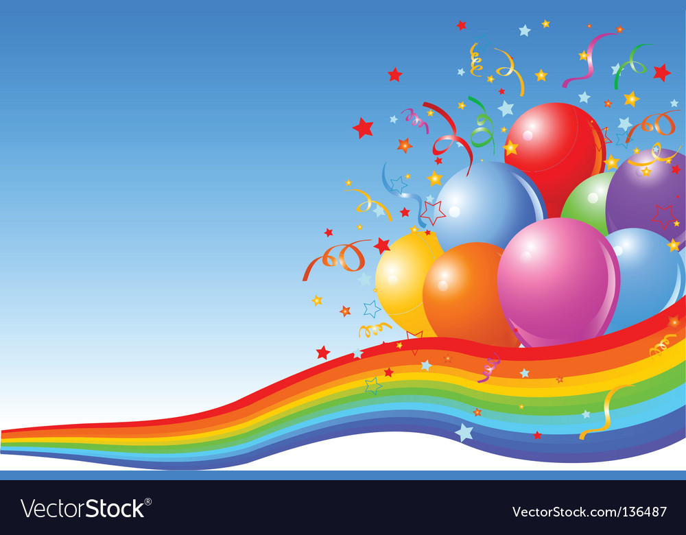 Party balloons background vector | Price: 1 Credit (USD $1)