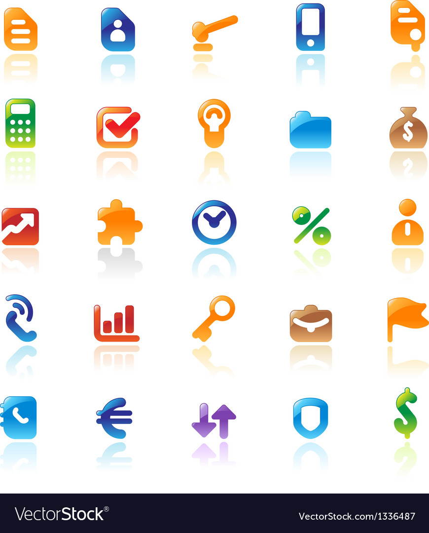 Perfect icons for business metaphor vector | Price: 1 Credit (USD $1)