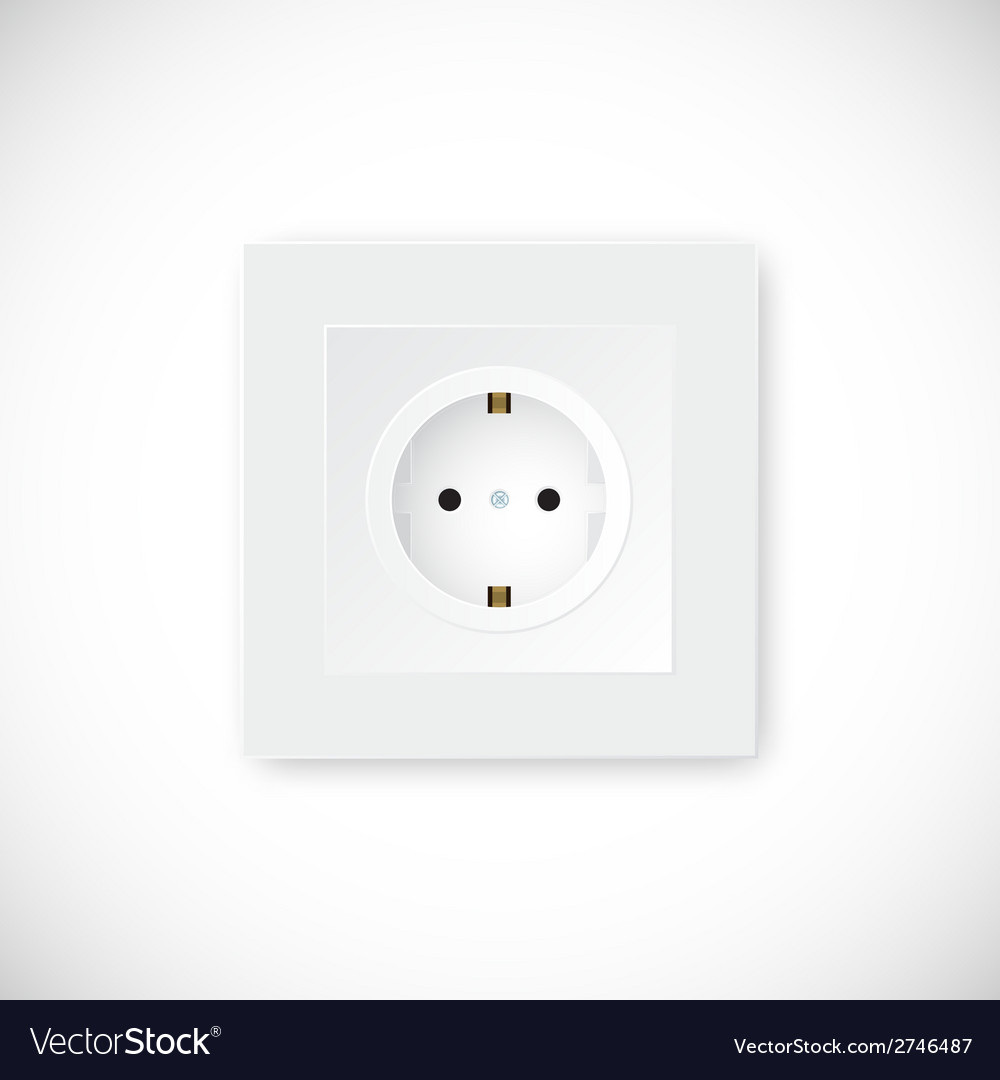 Realistic socket template vector | Price: 1 Credit (USD $1)