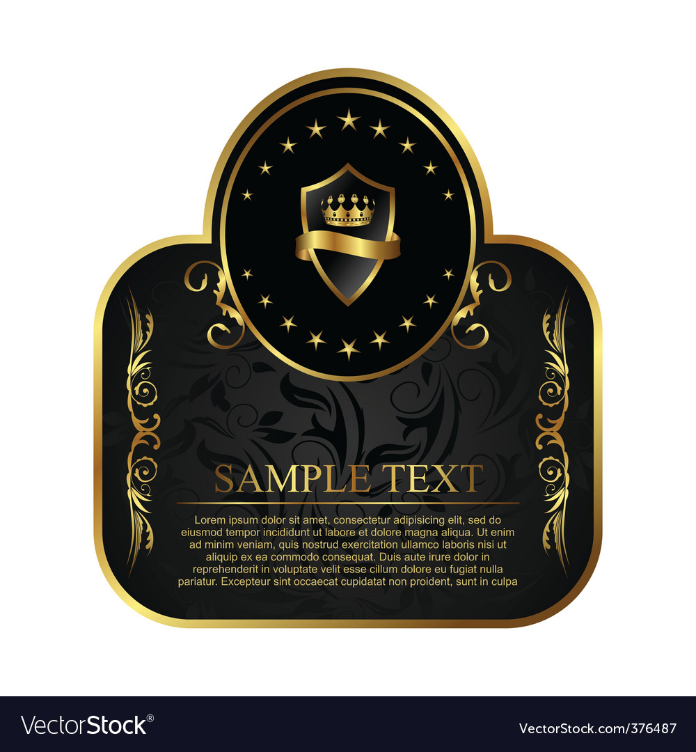 Royal label for design packing vector | Price: 1 Credit (USD $1)