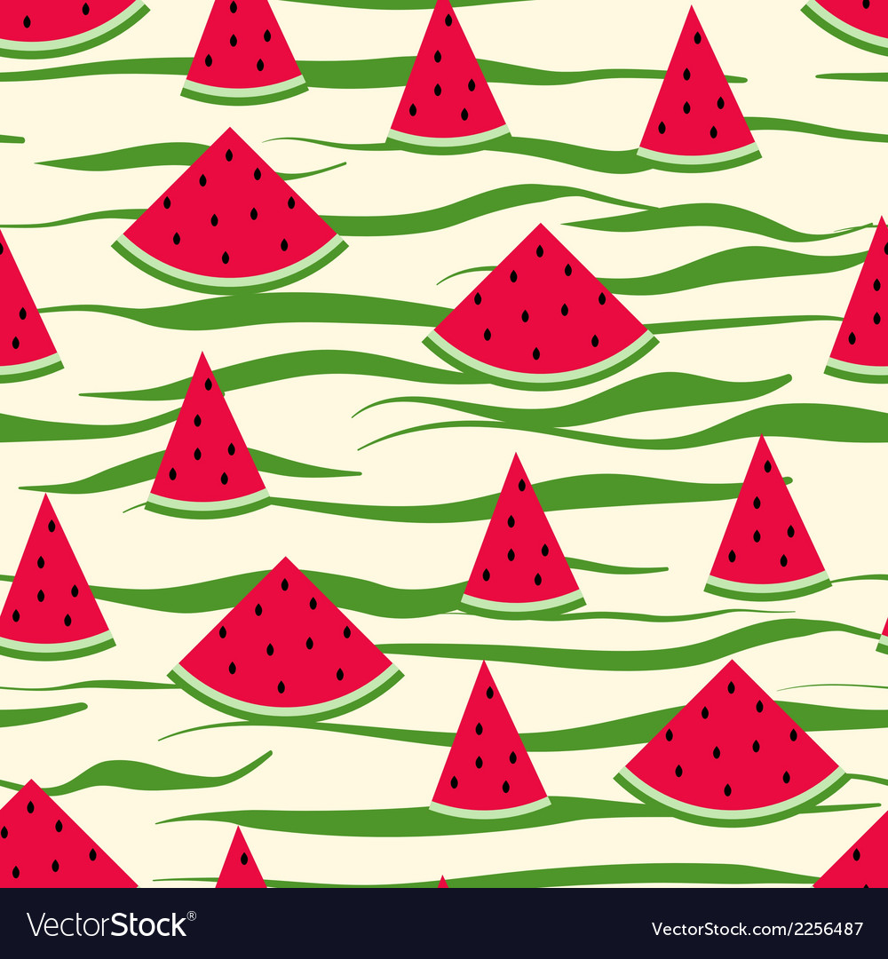 Seamless pattern of watermelon slices striped vector | Price: 1 Credit (USD $1)