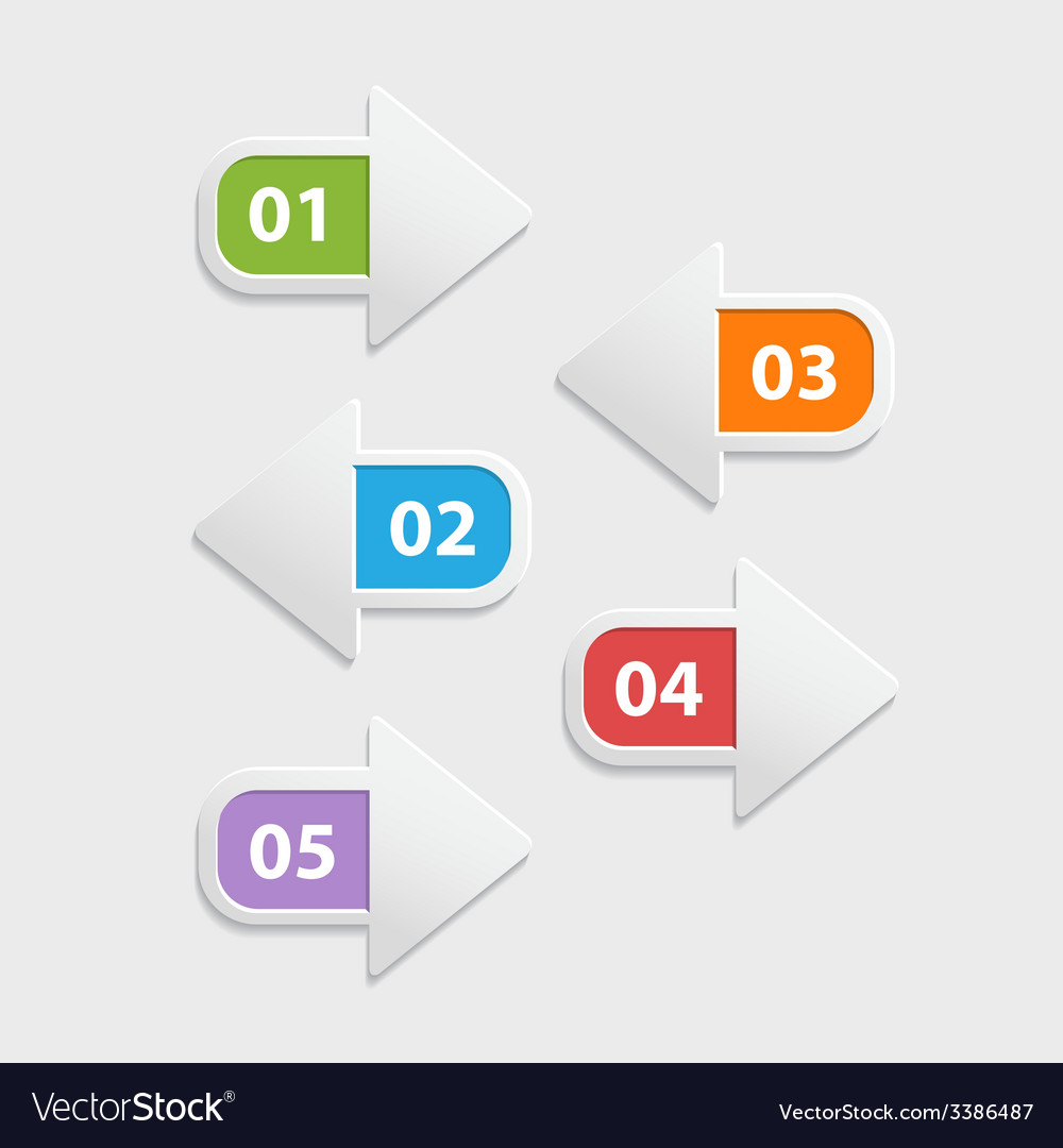 Web arrow buttons icon  infographic isolated on a vector | Price: 1 Credit (USD $1)