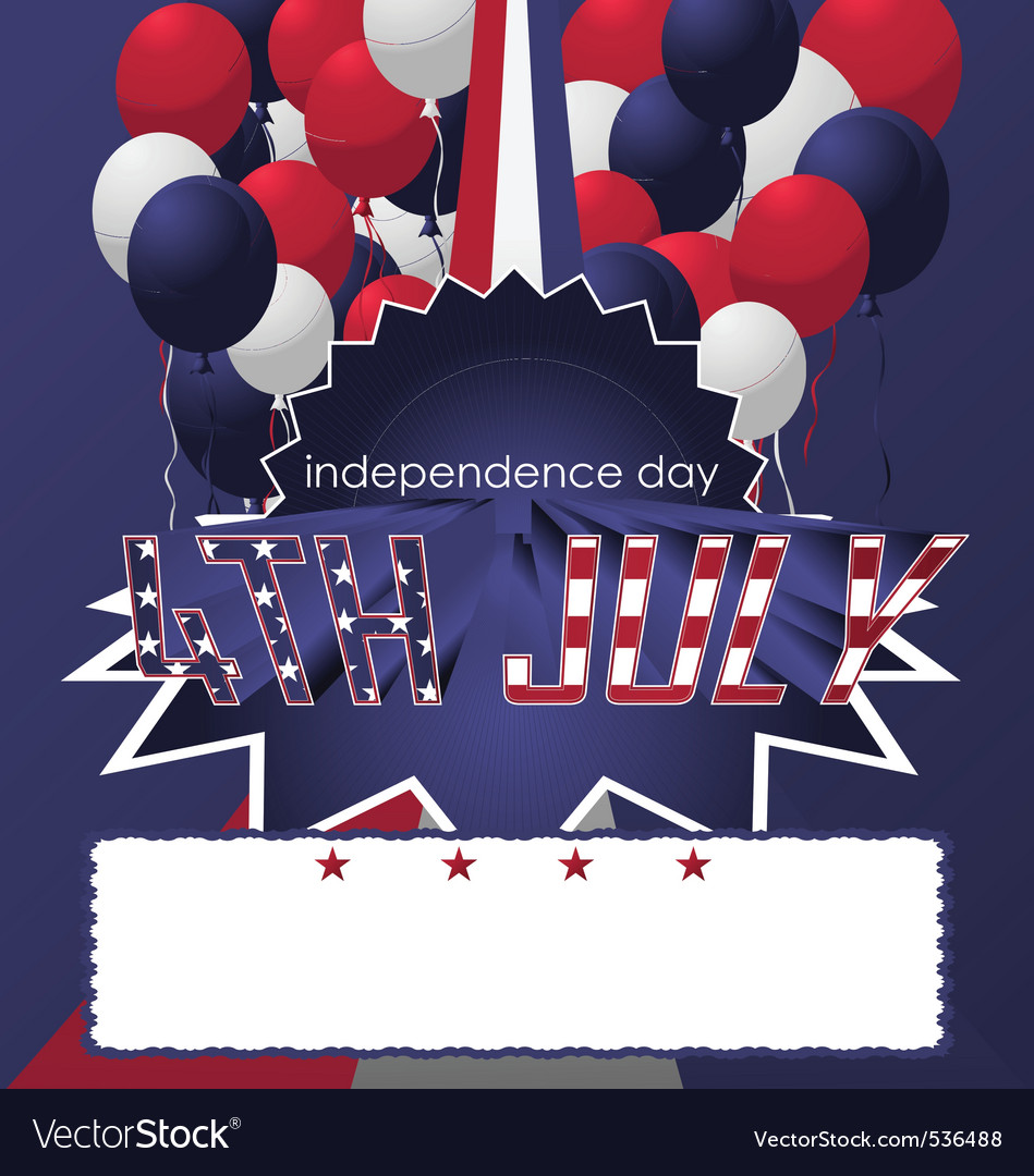 4th of july poster card vector | Price: 1 Credit (USD $1)