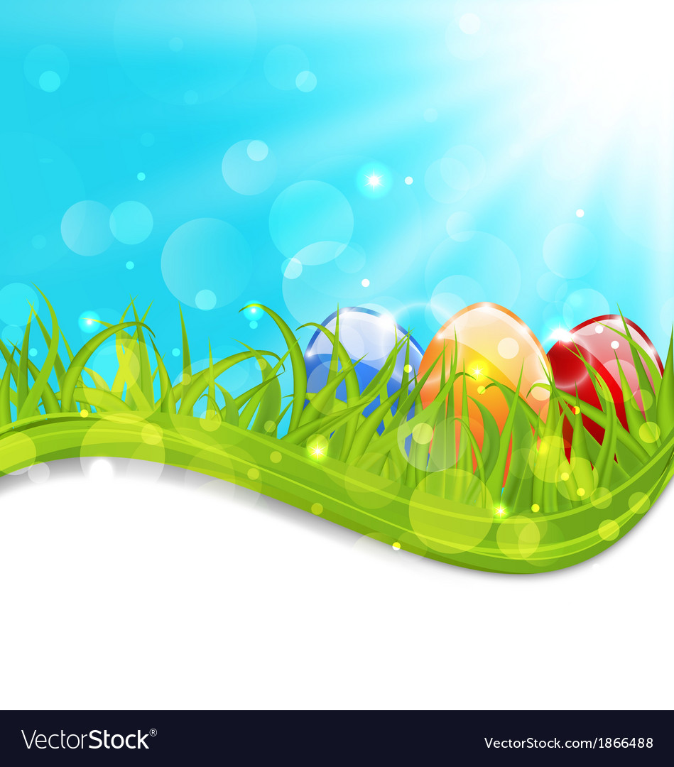 April card with easter set colorful eggs vector | Price: 1 Credit (USD $1)