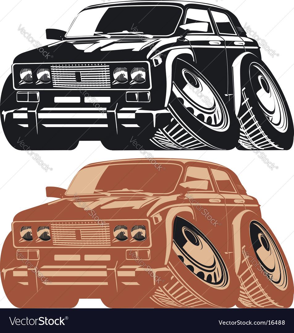 Cartoon car silhouettes vector | Price: 1 Credit (USD $1)
