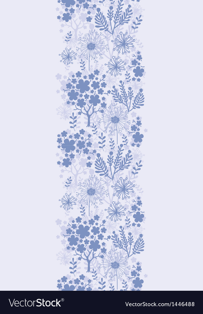 Evening garden vertical seamless pattern vector | Price: 1 Credit (USD $1)