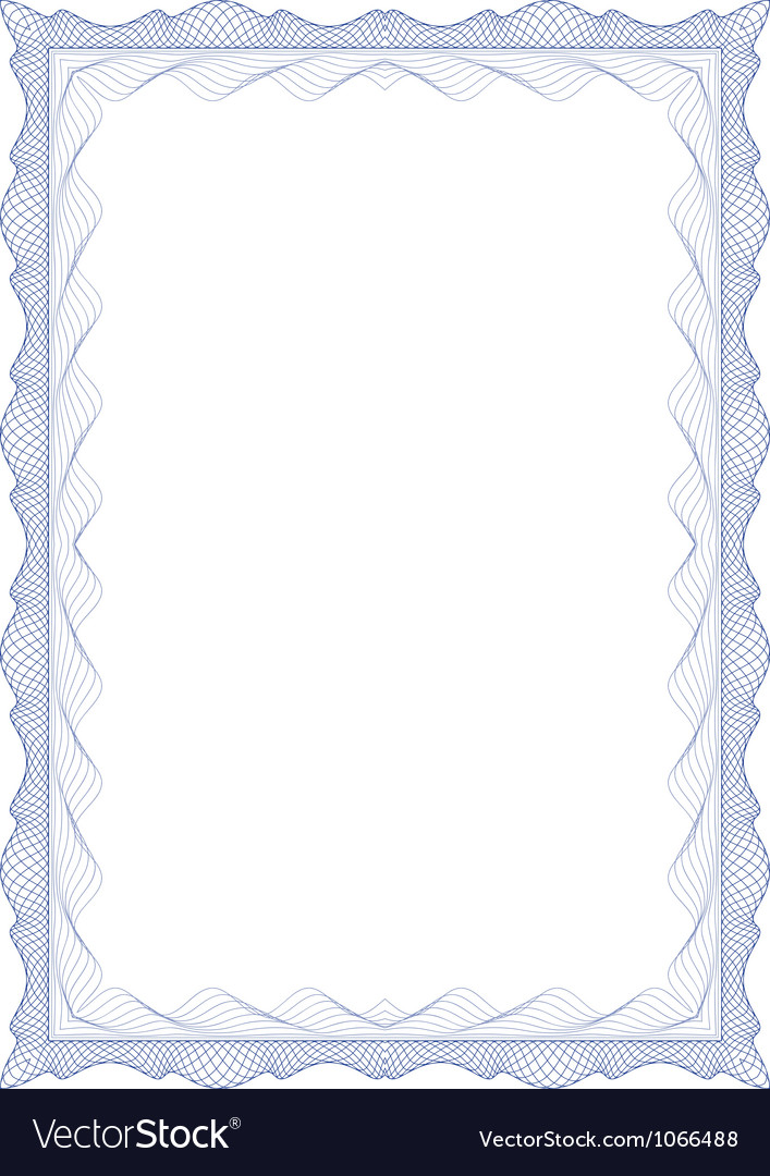 Guilloche frame vector | Price: 1 Credit (USD $1)