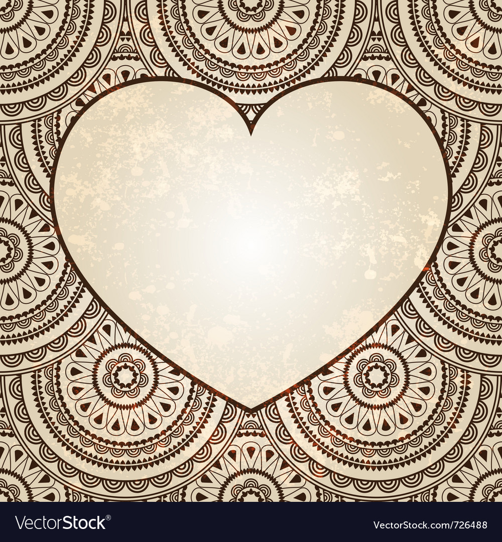 Heart on seamless background vector | Price: 1 Credit (USD $1)