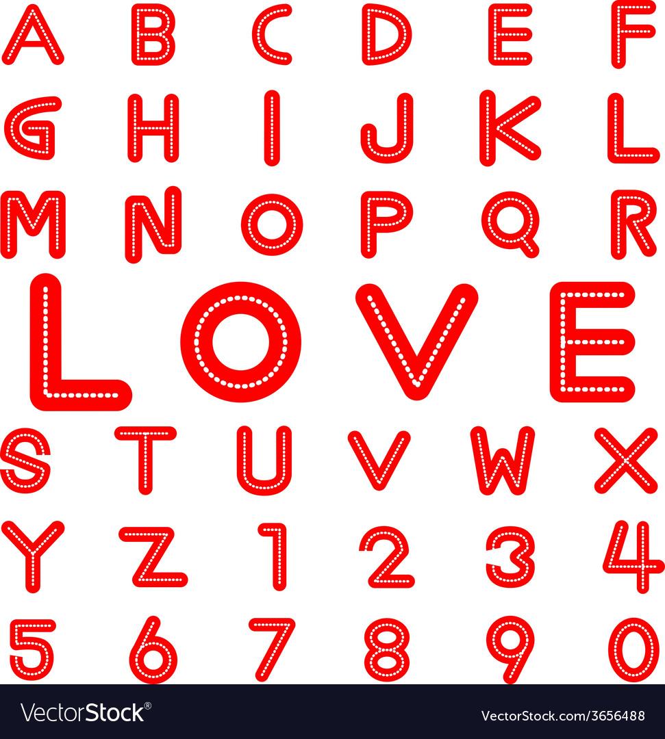 Love alphabet vector | Price: 1 Credit (USD $1)