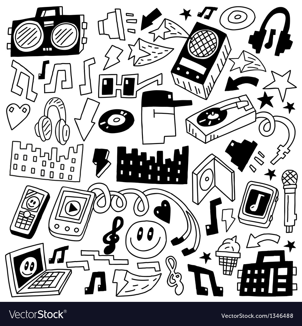 Music party - doodles set vector   Price: 1 Credit (USD $1)