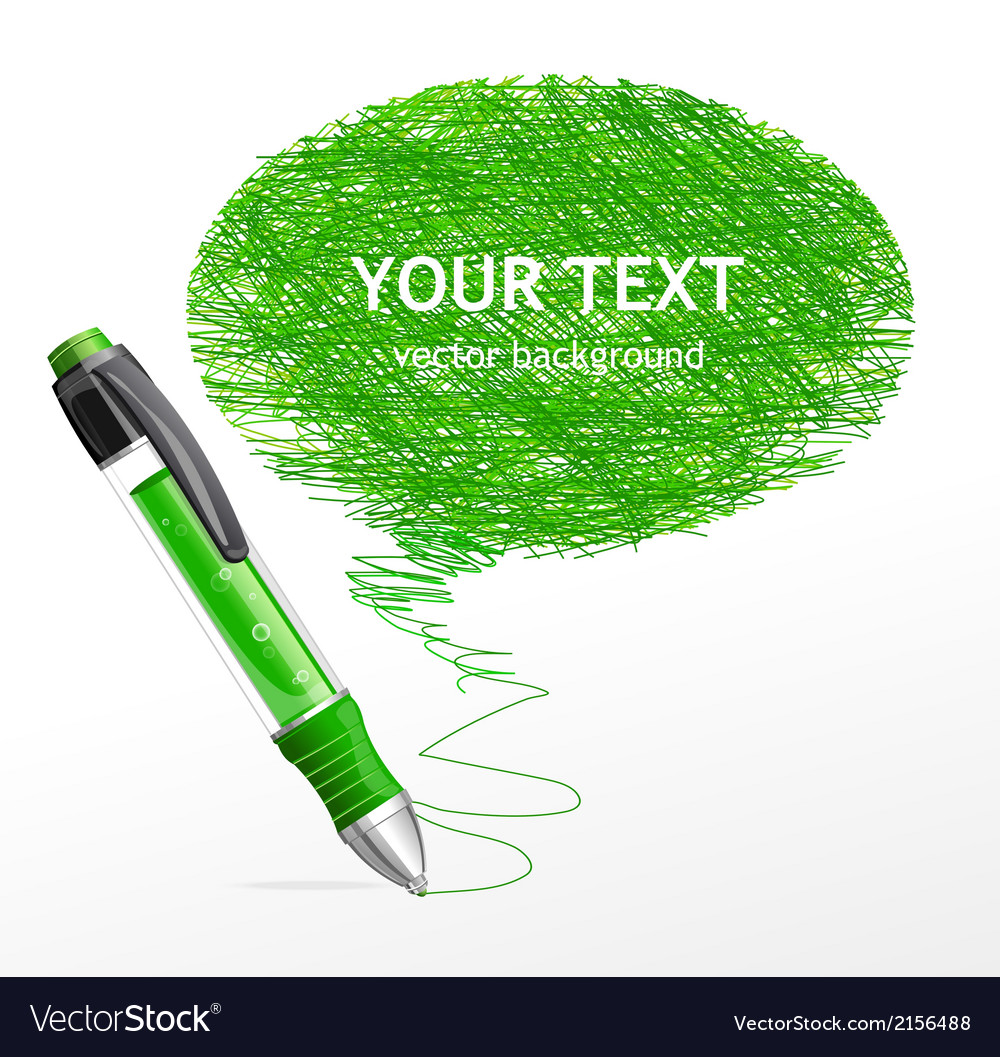 Speech template with pen vector   Price: 1 Credit (USD $1)