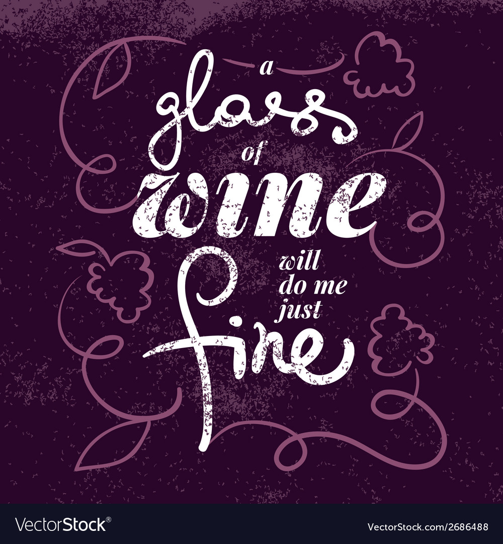 Wine list typographics poster vector | Price: 1 Credit (USD $1)