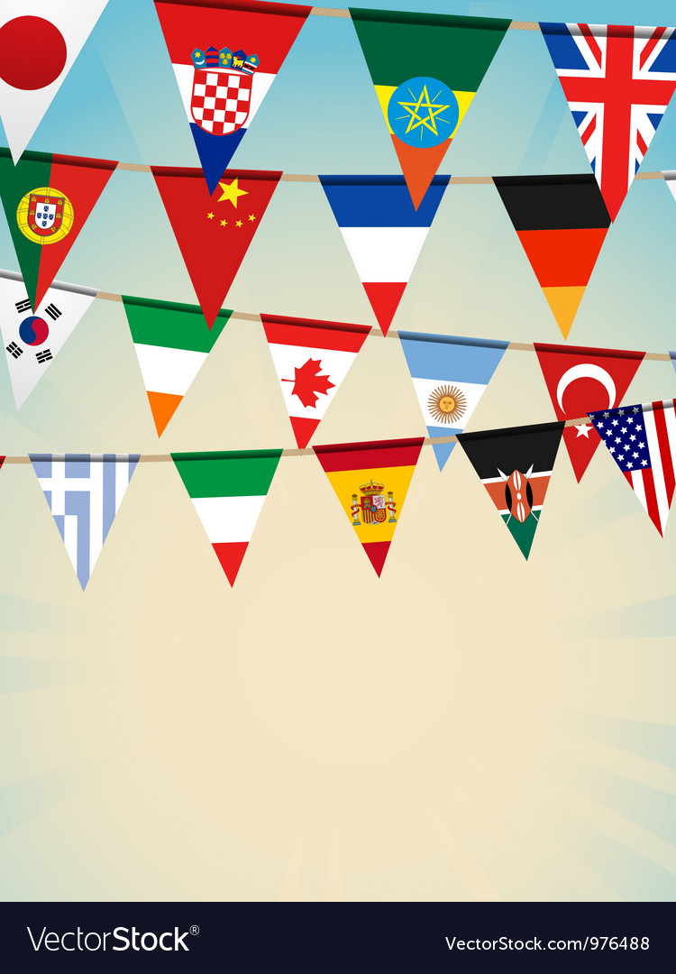 World flag bunting vector | Price: 1 Credit (USD $1)