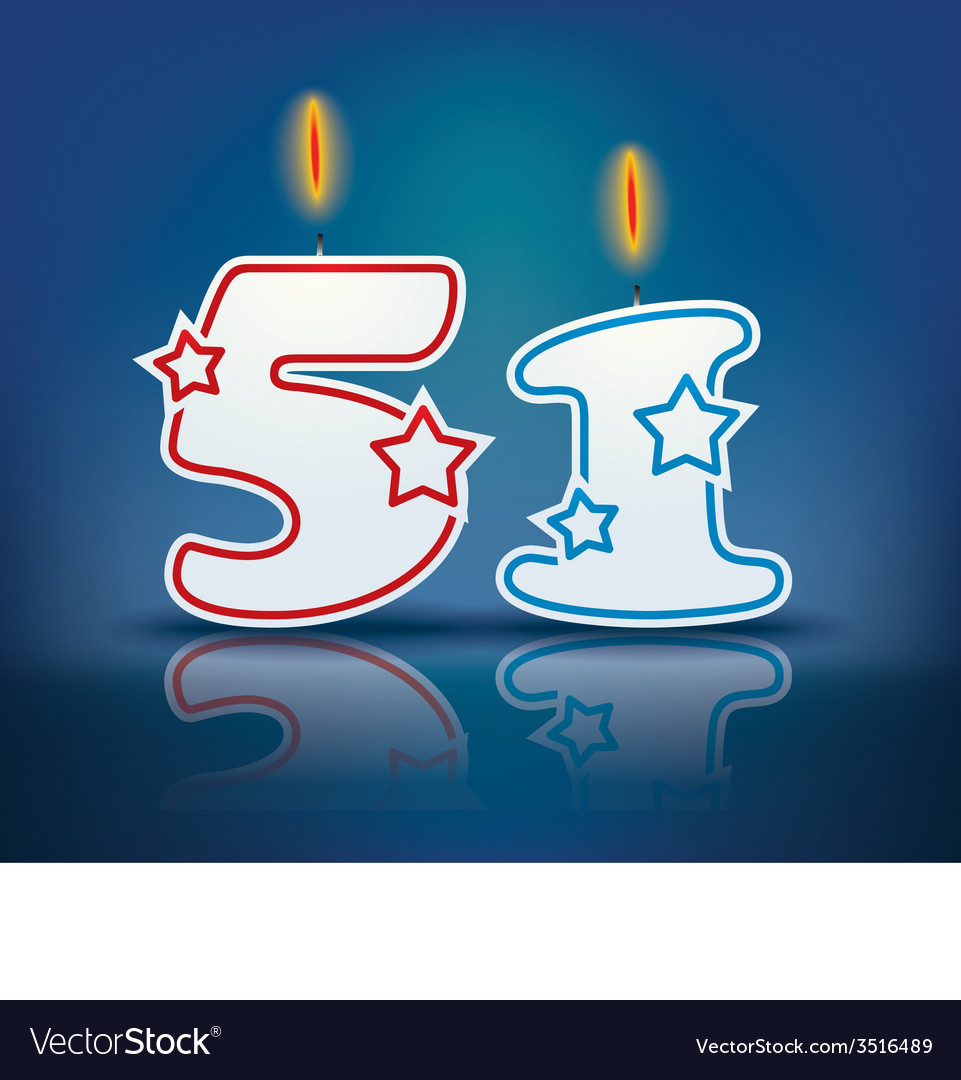 Birthday candle number 51 vector   Price: 1 Credit (USD $1)