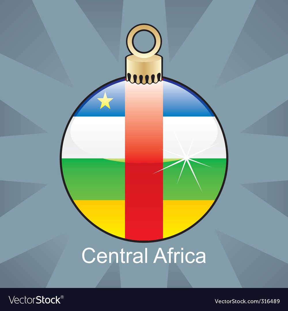 Central africa flag on bulb vector | Price: 1 Credit (USD $1)