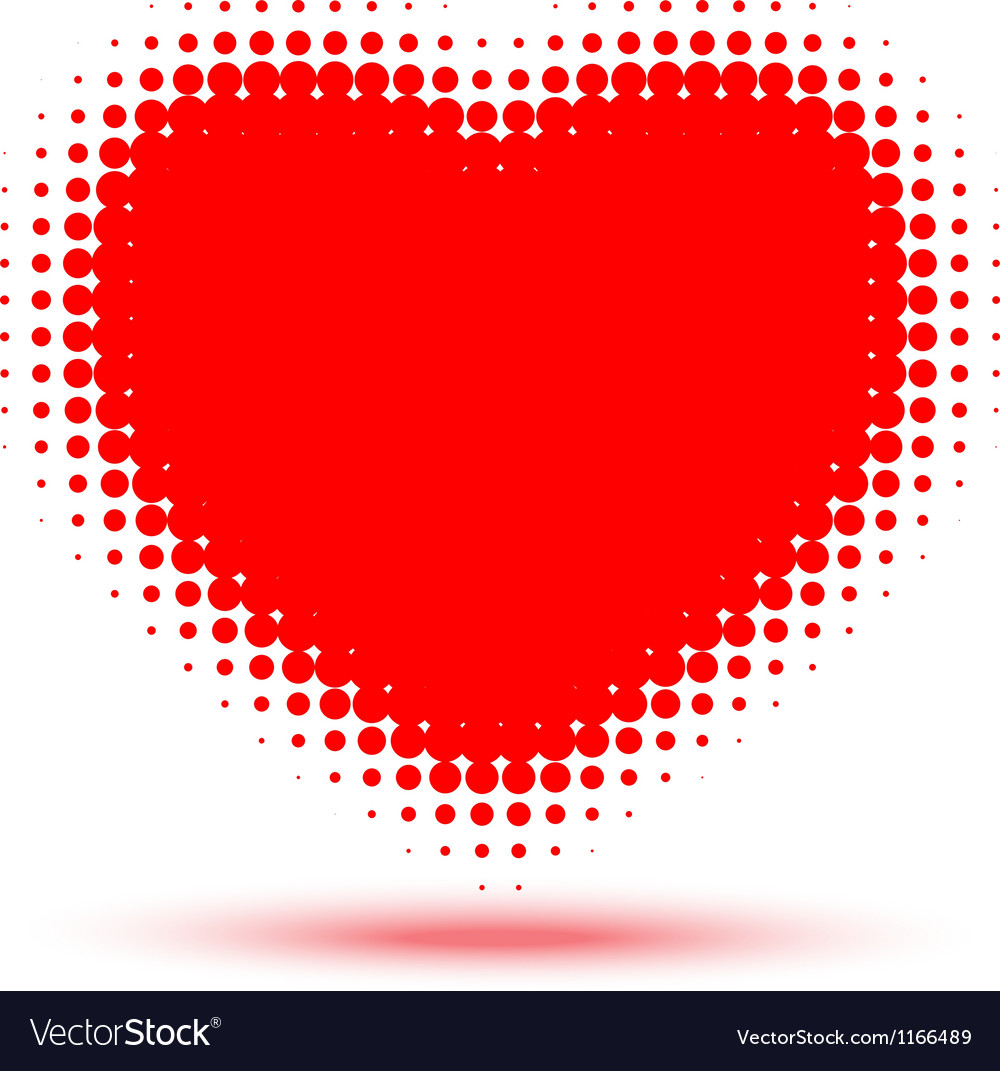 Heart halftone vector | Price: 1 Credit (USD $1)