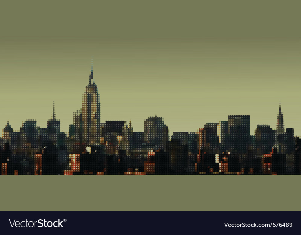 Manhattan panorama vector | Price: 1 Credit (USD $1)