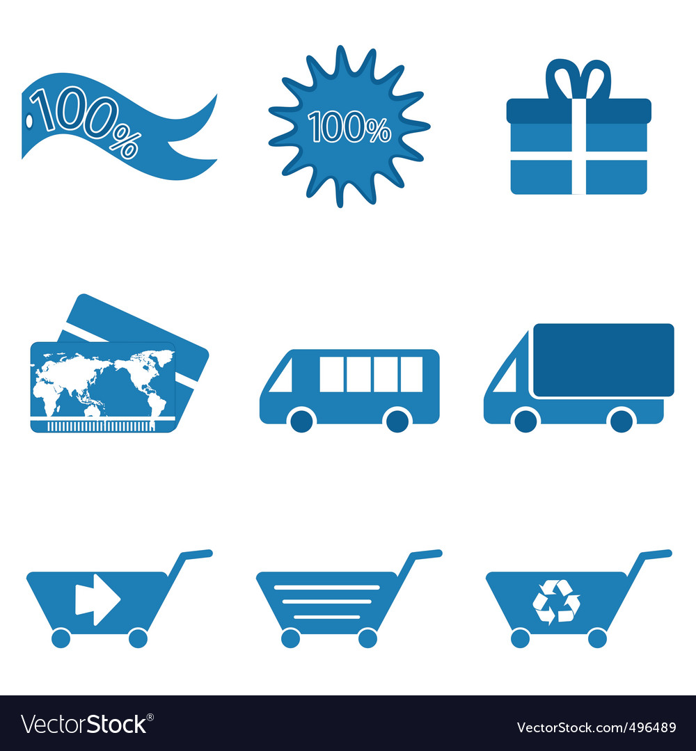 Retail and transport icons vector | Price: 1 Credit (USD $1)