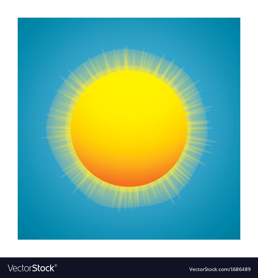 Shiny sun vector | Price: 1 Credit (USD $1)