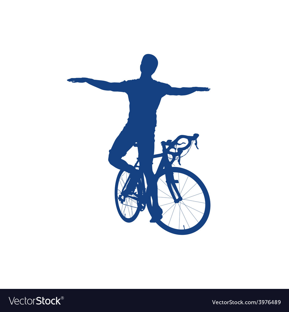 Silhouette of a cyclist vector | Price: 1 Credit (USD $1)