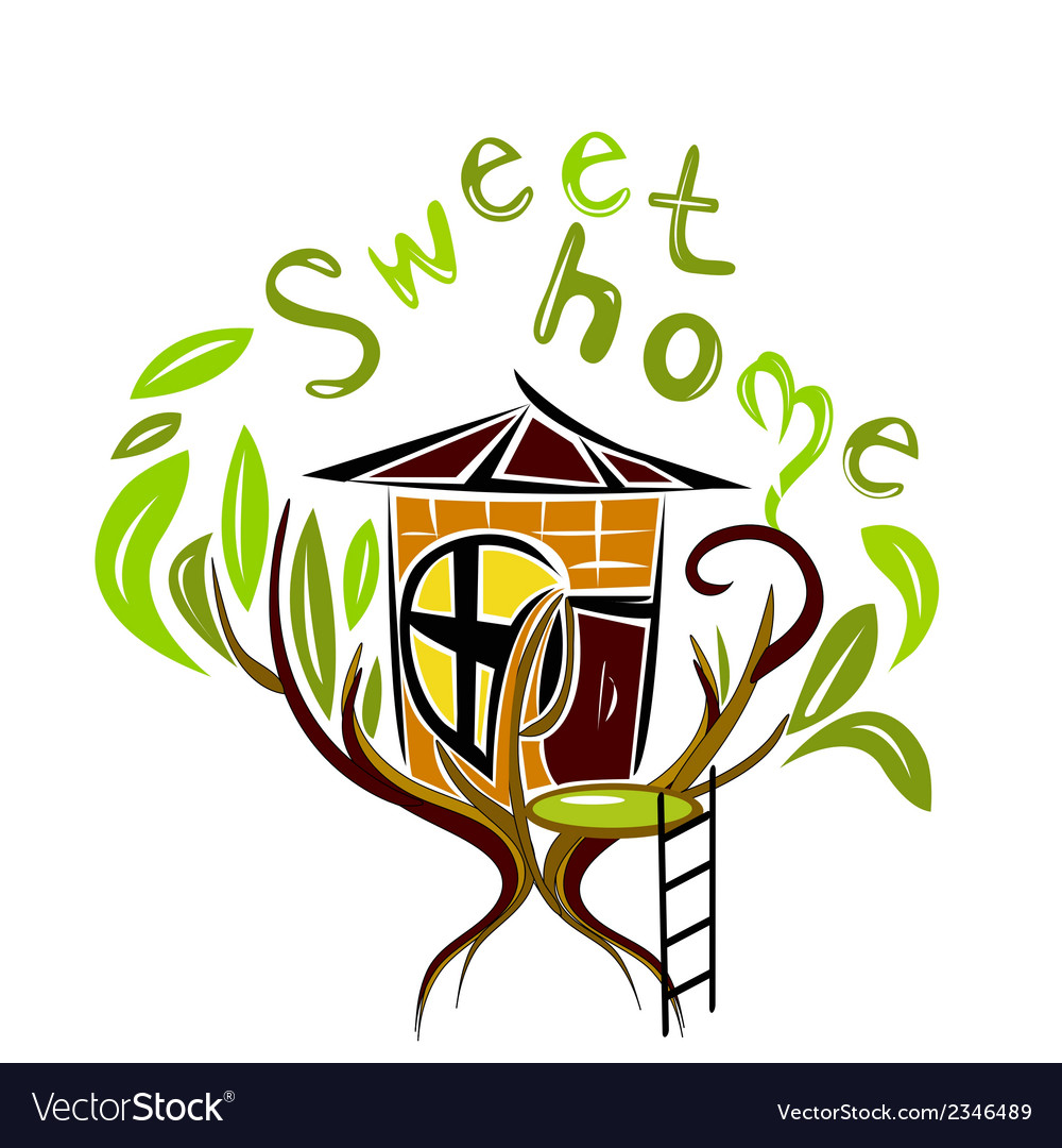 Sweet home on the tree vector | Price: 1 Credit (USD $1)