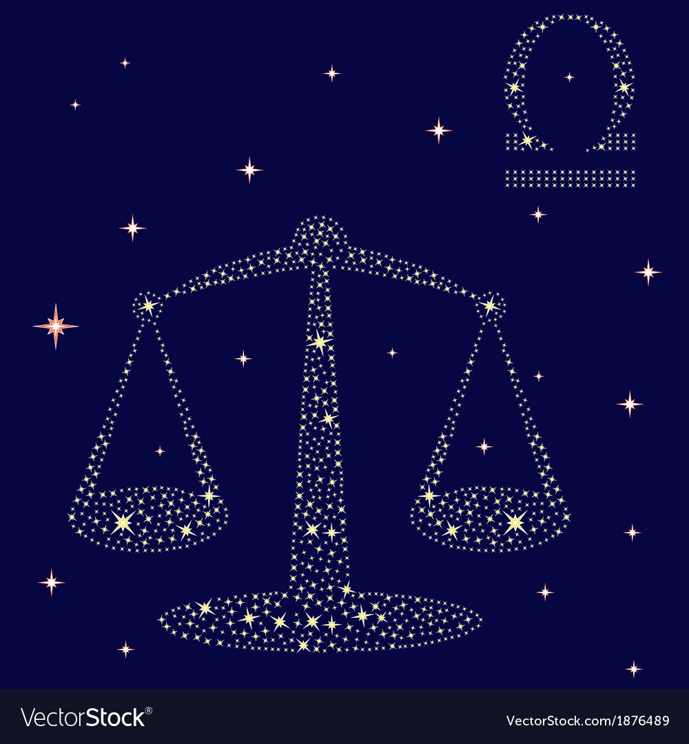 Zodiac sign libra on the starry sky vector | Price: 1 Credit (USD $1)